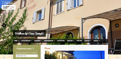 Casa Tartufo_website design