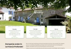 Domaine Jeanary   Website design